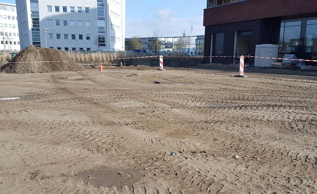 Puin, zand en grond